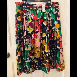 NWT J crew silk skirt floral sz 6